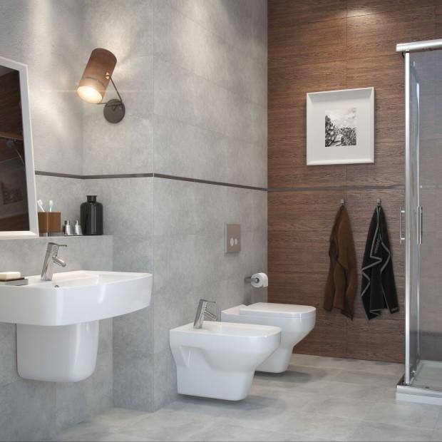 Płytki łazienkowe. Ceramika imitująca drewno i kamień