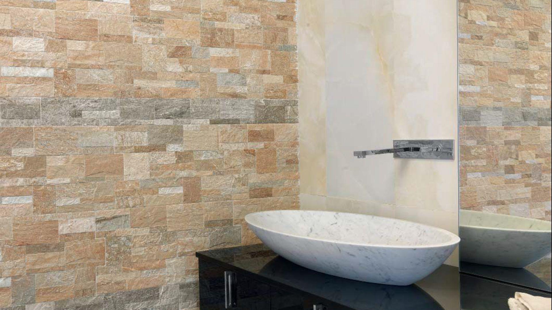Płytki łazienkowe Ceramika Imitująca Drewno I Kamień