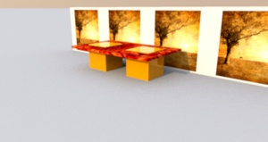 Szkło dekorowane - meble dla restauracji, hoteli i lokali.