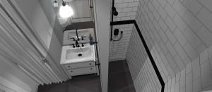 Klasyczna łazienka w wersji black&white.