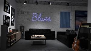 Can you feel the blues? Wnętrze to zostało zaprojektowane dla miłośników muzyki bluesowej.