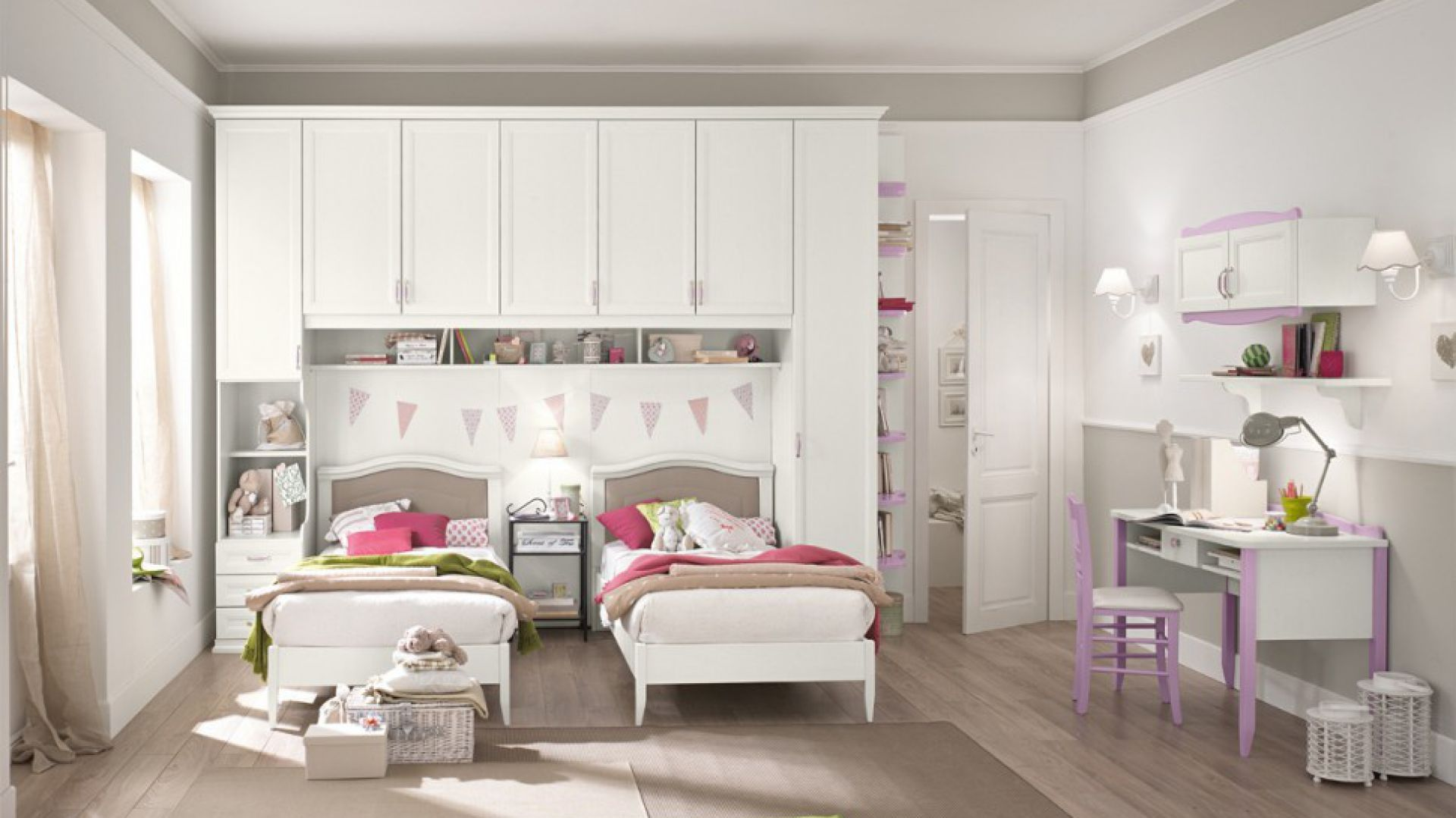 jasny pok j dla dziewczynki pomys y. Black Bedroom Furniture Sets. Home Design Ideas