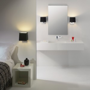 Zastosowanie takiego samego oświetlenia w łazience i w sypialni pozwala stworzyć spójną, estetyczną aranżację.
