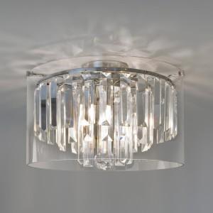 Nowoczesna lampy kryształowe, dzięki posiadanej klasie szczelności IP44, mogą być stosowane w łazience.