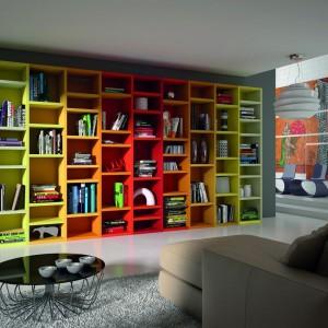 Kolorowy mebel z serii Librerie Soggiorni. Fot. Dielle.