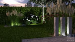 Oświetlenie ogrodu.