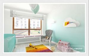 Pokój dziecięcy - błękitny.