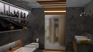Projekt konkursowy - łazienka.