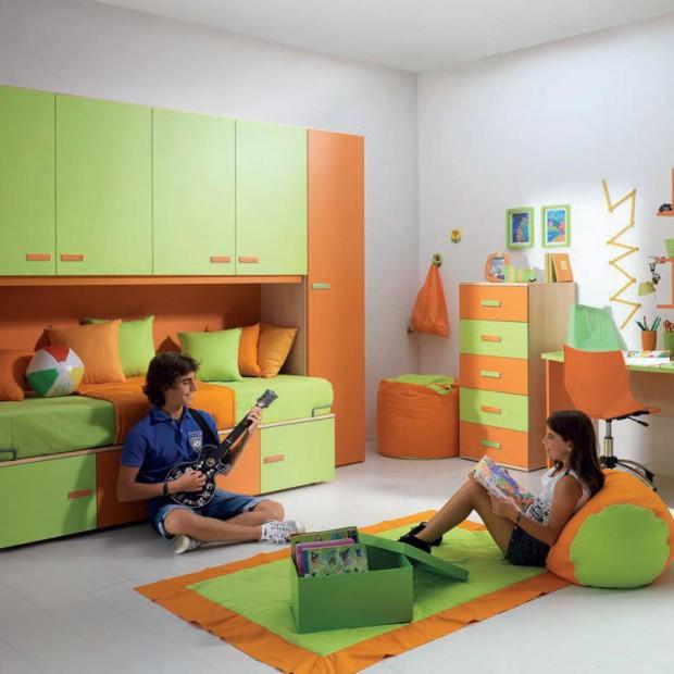 Pomarańczowy pokój dziecka. Aranżacje dla dziewczynki i chłopca