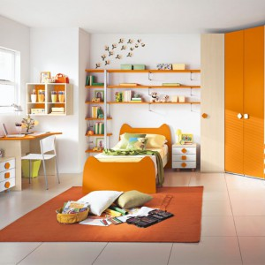Pomarańcz, beż i odrobina bieli. Fot. Colombini Casa.