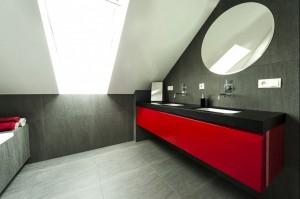 Łazienka przy sypialni, projekt architekt wnętrz Marta Matelier, fot. Bernard Branecki.