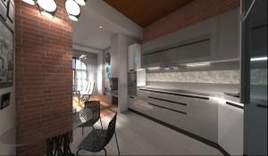 Mieszkanie w stylu loft. Awangardowe wnętrze utrzymane w klimacie fabryki ozdobiono nowoczesnymi dodatkami. Dzięki odkryciu ścian uzyskano liczne przestrzenie surowej cegły.