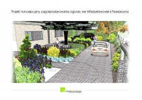 Projekt ogrodu przydomowego, Władysławów k/Nadarzyna.