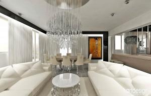 Pokój dzienny w nowoczesnym mieszkaniu.