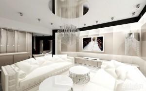 Projektowanie salonu w stylu glamour.