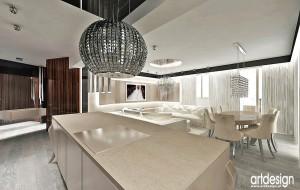 Projekt nowoczesnego apartamentu - salon.