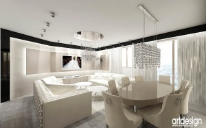 Luksusowe wnętrza salonu.