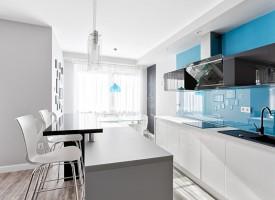 Turkus w bieli - kuchnia.