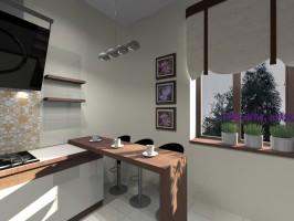 Projekt koncepcyjny kuchni w Zawierciu.