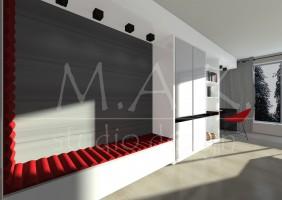 Projekt domu jednorodzinnego we Wrocławiu - pokój nastolatka.