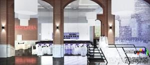 Restauracja Bytom KWK Miechowice Szyb Zachodni - widok z sali bocznej na bar.