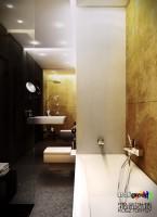 Projekt łazienki w mieszkaniu.