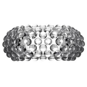 Klasyka oświetlenia.Delikatnie połyskująca szklana forma kinkietu Caboche idealnie sprawdzi się w sypialni utrzymanej w stylu glamour. Kinkiet dostępny w dwóch wielkościach.  Fot.Foscarini.