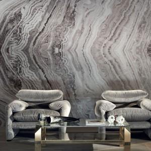 Ściana z kamienia dodaje wnętrzu prestiżu. Fot. Zinc Textile.
