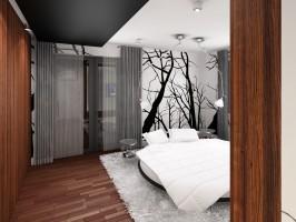 Z okrągłym łóżkiem - sypialnia.