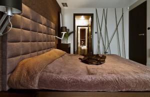 Sypialnia - czekoladowo.