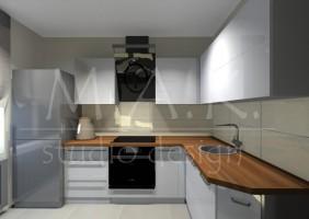 Projekt kuchni - Kromołów.