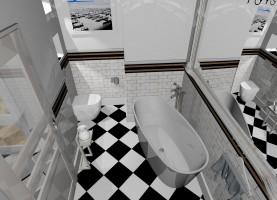 Apartament w starej kamienicy - łazienka.