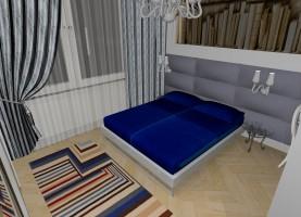 Apartament w starej kamienicy - sypialnia.