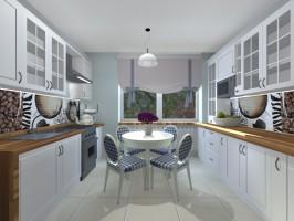 Elegancka drewniana kuchnia w stylu angielskim z teakowym blatem. Realizacja - początek kwietnia :)
