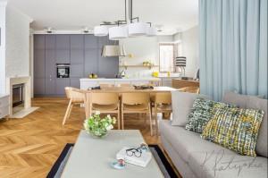 Apartament w Wilanowie - salon.