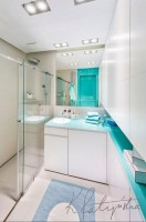 Kolorowe mieszkanie - łazienka.