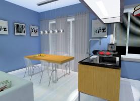 Kuchnia w błękitach.