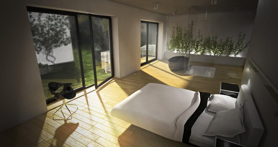 Realizacja Architekta Sypialnia Z Wanną