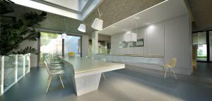 Kuchnia w nowoczesnym domu.