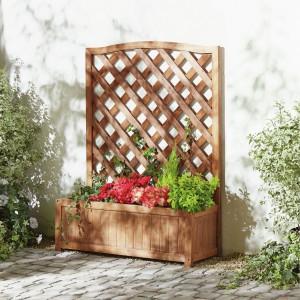 Prosta skrzynka-donica z drewna pasuje do każdego ogrodu. Fot. House of Bath.