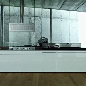 Kuchnia z kolekcji Artematica z ultracienkimi i bardzo lekkimi frontami. Jest to możliwe dzięki aluminiowym ramkom, do których montowane są fronty. Oprócz laminatu (w wielu kolorach), można wybrać drewno i forniry oraz szkło, akryl, ale też aluminium czy stal szlachetną. Wycena indywidualna, Valcuine.