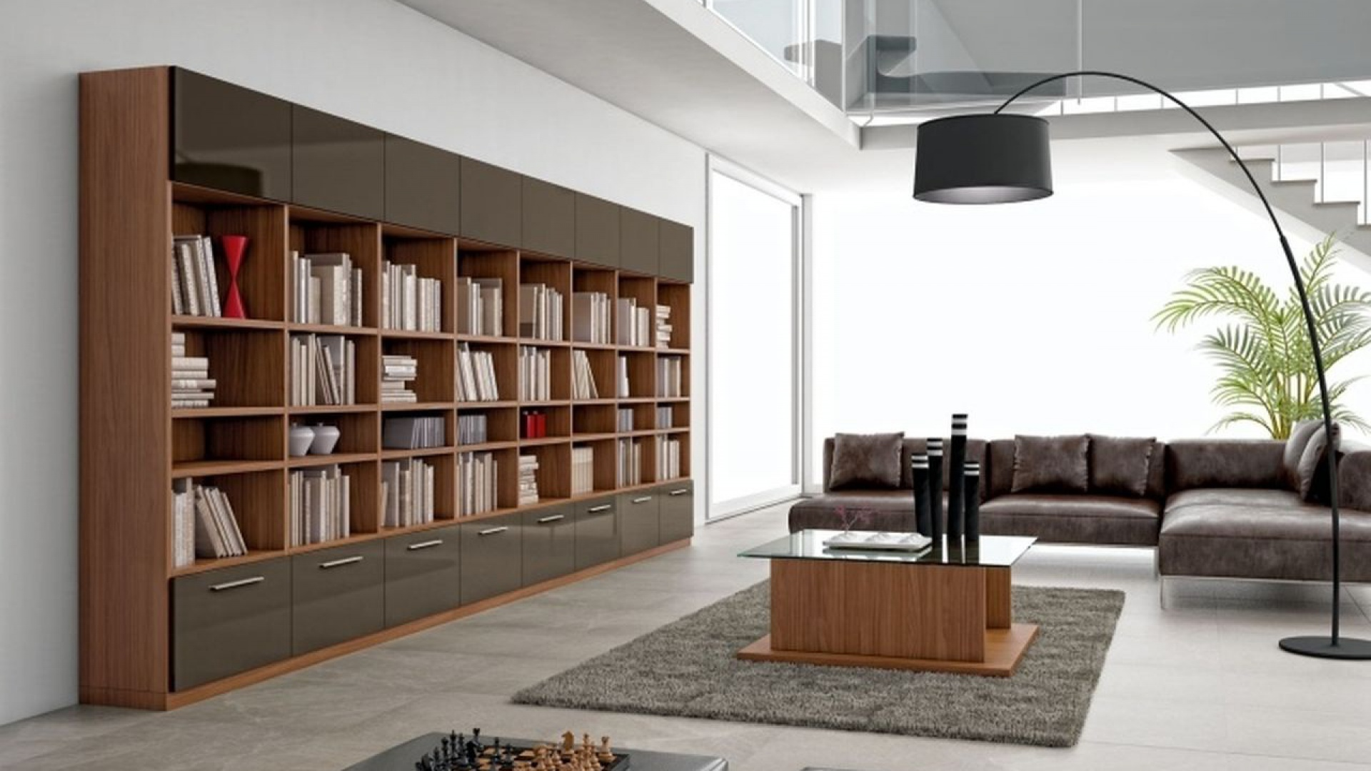 Niewiarygodnie Jak wyeksponować książki? Pomysły na ścianę w salonie AH32