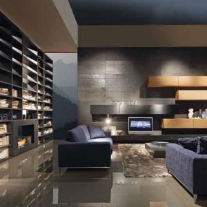 Biblioteczką można efektownie oddzielić salon od reszty domu. Fot. Presottoitalia.it.