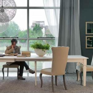 Miejsce do pracy można sobie zorganizować w jadalnianej części salonu. Fot. Marchetti.