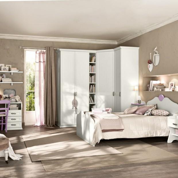 Piękny pokój dla dziewczynki: romantyczny, bez różowego koloru
