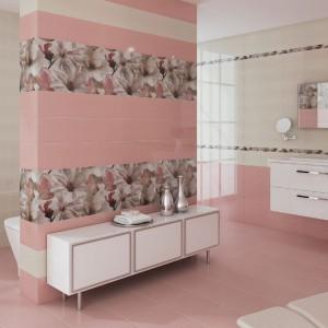 """Płytki """"Dream Coral"""" firmy CeramicasMyr to doskonałe rozwiązanie dla romantyczek. Fot. CeramicasMyr."""
