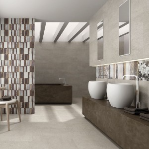 Subtelną elegancję ta aranżacja zawdzięcza kafelkom firmy Ibero z serii Marble o wymiarach 25x75, dostępnych w wielu kolorach. Fot. Ibero.