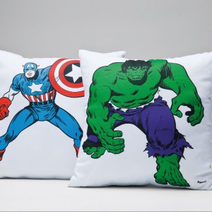Poduszki inspirowane komiksami Marvella. Fot. Kare Design.