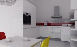 Biała kuchnia.