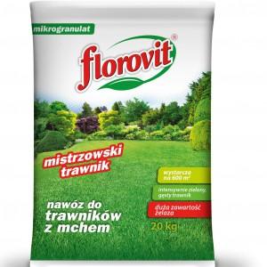 Nawoz do trawników z mchem Florovit.
